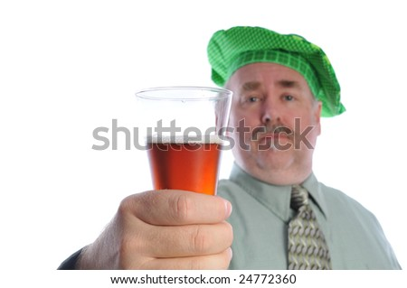 St Patrick's day beer time - stock photo