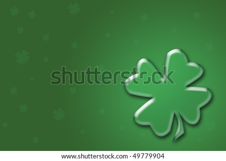 St. Patrick's Day Four Leaf Clover Background. - stock photo