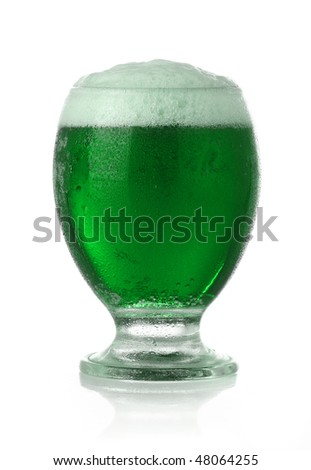 St. Patrick's Day green beer - stock photo