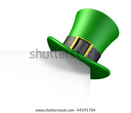 St. Patrick's day green hat of a leprechaun - stock photo