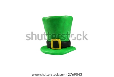 St. Patrick's Day hat, isolated on white - stock photo