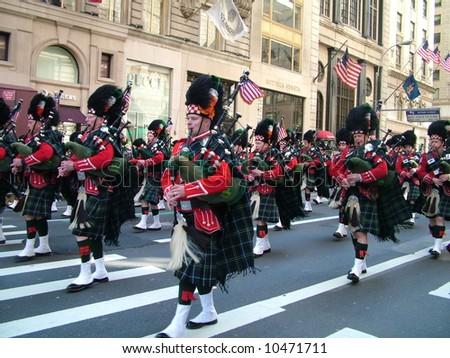 St. Patrick's Day Parade - stock photo