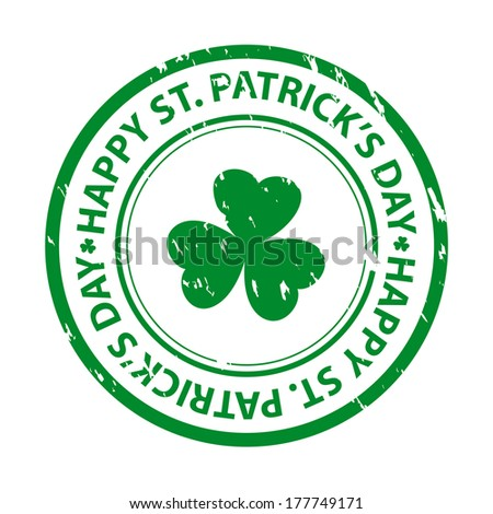 St. patrick's day rubber stamp. Vector available. - stock photo