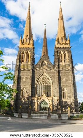 St. Patrick's Roman Catholic Cathedral in Melbourne, Victoria, Australia - stock photo