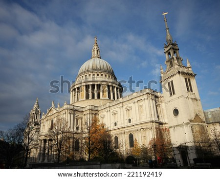 St. Paul Cathedral  in London England United Kingdom  - stock photo