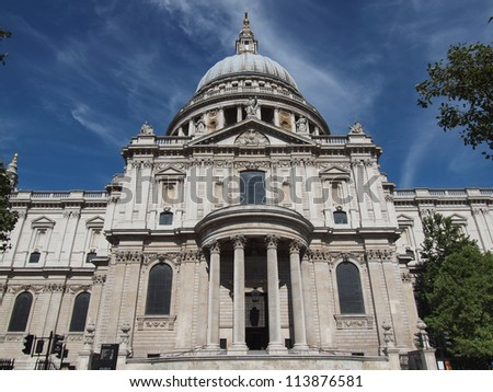 St Paul Cathedral in London United Kingdom (UK)