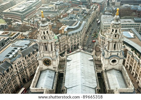 St Paul Cathedral, London, UK. - stock photo
