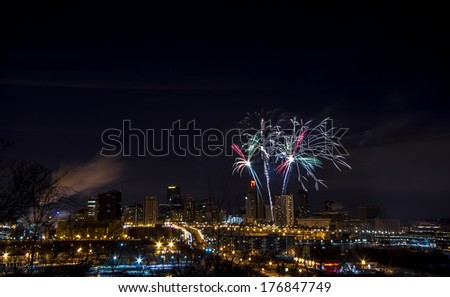 St Paul, Minnesota winter carnival fireworks