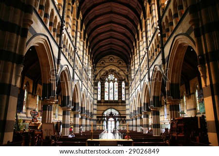 St. Paul's Anglican Cathedral interior in Melbourne, Victoria, Australia - stock photo