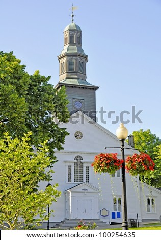 St. Paul's Anglican Church downtown Halifax; Nova Scotia Canada - stock photo
