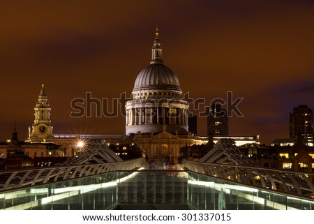 St.Paul's Cathedral and Millennium Bridge, London