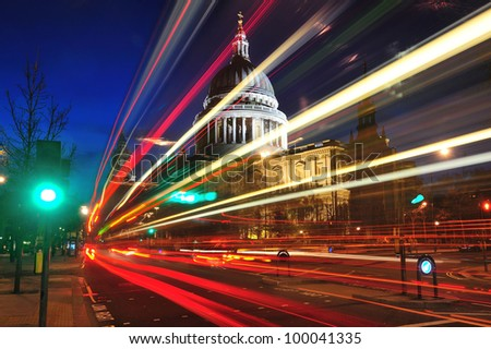 St Paul's cathedral at twilight - stock photo