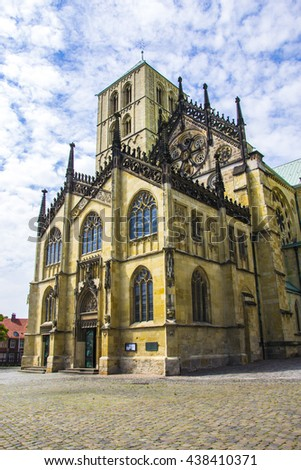 St. Paul's Cathedral CHURCHES ,Chris Church in munster germany - stock photo
