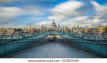 St Paul's Cathedral in London  - stock photo