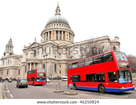 St Paul's Cathedral in London England in winter