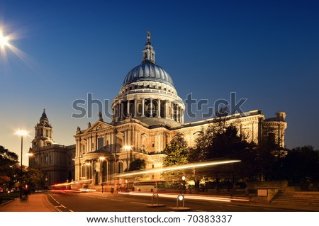 St. Paul`s Cathedral. London at night