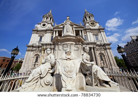 St Paul's Cathedral, London, England, UK - stock photo