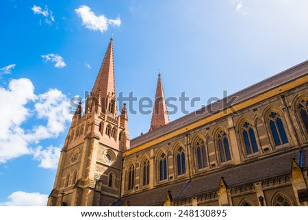 St Paul's Cathedral, Melbourne - stock photo