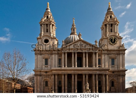 St. Pauls cathedral - stock photo