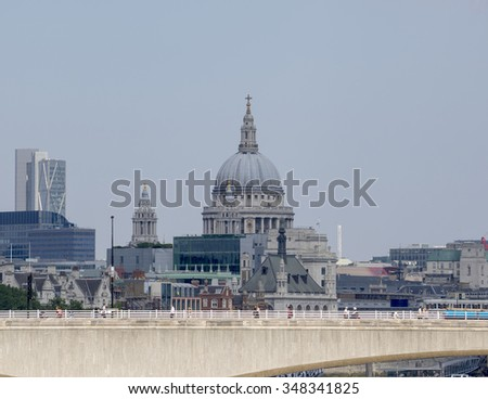 St Pauls cathedral and the city of London