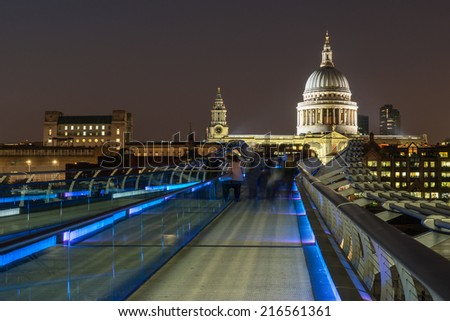 St Pauls Cathedral from the Millennium Bridge