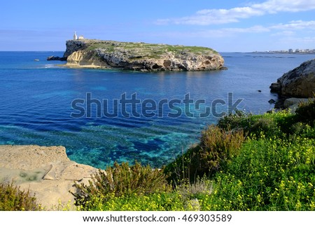 St Pauls Island off the north east coast of Malta.