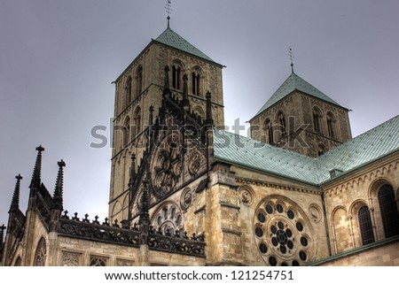 St. Paulus cathedral in Muenster, Germany - stock photo