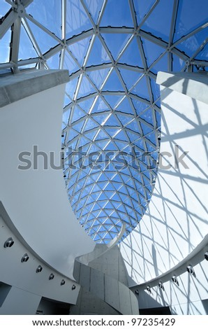 ST. PETE, FLORIDA - DECEMBER 29: Interior of Salvador Dali Museum December 29, 2011 in St. Pete, FL. The museum houses the largest collection of Dali works outside of Europe. - stock photo