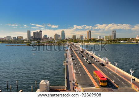 St. Pete, Florida Pier - stock photo