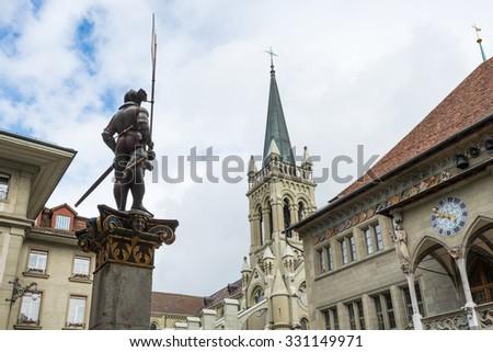 St. Peter and Paul church in Bern, Switzerland. - stock photo