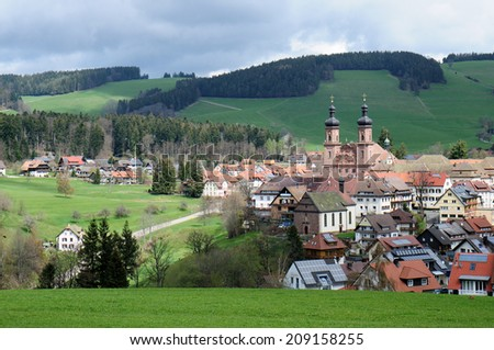 St. Peter in the Black Forest Germany - stock photo