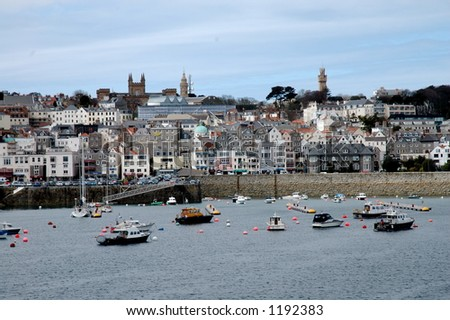 St. Peter Port, Guernsey - stock photo