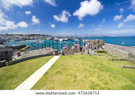 St Peter Port Harbour, Guernsey, seen from Castle Cornet