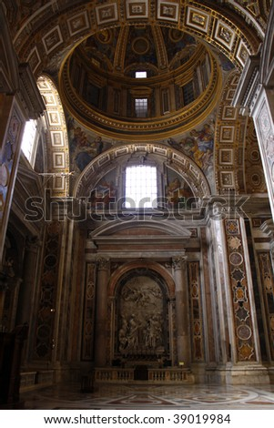 St. Peter's Basilica interior - stock photo