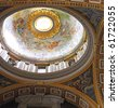 St. Peter's Basilica, St. Peter's Square, Vatican City. Indoor interior. - stock photo