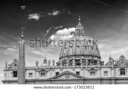 St. Peter's Basilica, Vatican, Rome. - stock photo