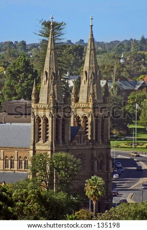 St Peter's Cathedral, Adelaide, South Australia... - stock photo