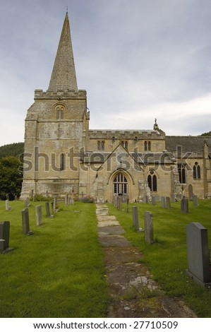 St Peters church in the North Yorkshire village of Hackness