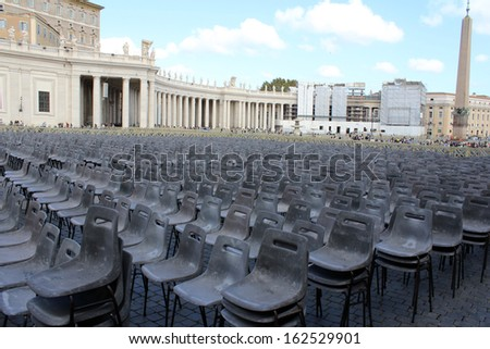 St Peters Square, Rome, Italy - stock photo