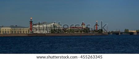 St. Petersburg. Panorama Spit of Vasilyevsky Island - stock photo