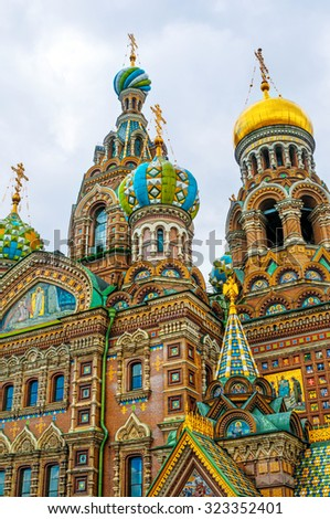 ST. PETERSBURG, RUSSIA - JULY 26, 2015: Church of the Saviour on Spilled Blood in St. Petersburg, Russia - stock photo
