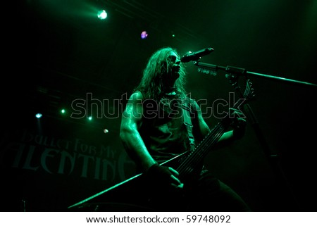 "ST. PETERSBURG, RUSSIA - JULY 14: GROUP ""BULLET FOR MY VALENTINE""in concert on July 14, 2010 in St Petersburg, Russia"