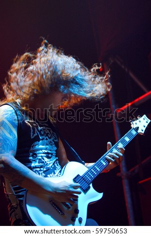 """ST. PETERSBURG, RUSSIA - JUNE 22: GROUP """"As i lay Dying"""" , St.-Petersburg On June 22, 2010 in St Petersburg, Russia - stock photo"""