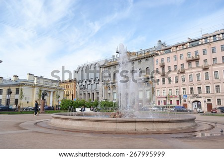 ST.PETERSBURG, RUSSIA - 24 MAY, 2012: Manege Square in center of St. Petersburg.