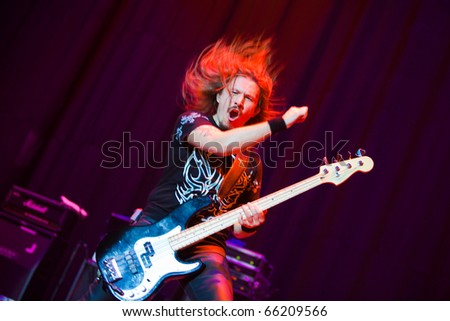 "ST. PETERSBURG, RUSSIA - OCTOBER 20: Group ""KIPELOV"" in concert on OCTOBER 20, 2010 in St Petersburg, Russia - stock photo"