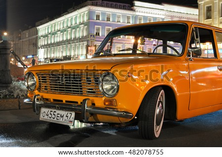 ST PETERSBURG, RUSSIA   September 09, 2016: Soviet Car VAZ 2102 (