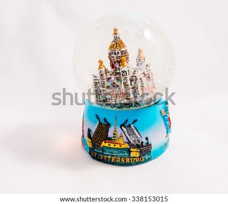 St. Petersburg snow globe