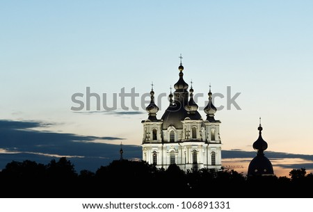 St. Petersburg, View of Smolny Cathedral in White Nights