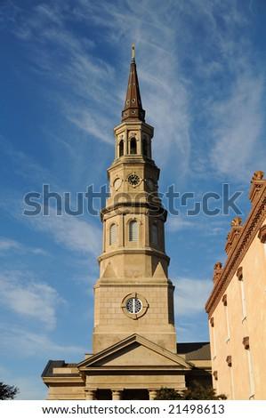 St Philips Church in Charleston, SC - stock photo