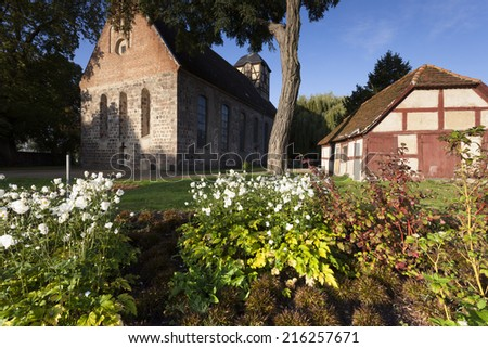 St. Sabinen of Prenzlau - Prenzlau  is a city in the Uckermark District of Brandenburg in Germany - stock photo